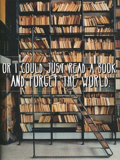read a book forget the world