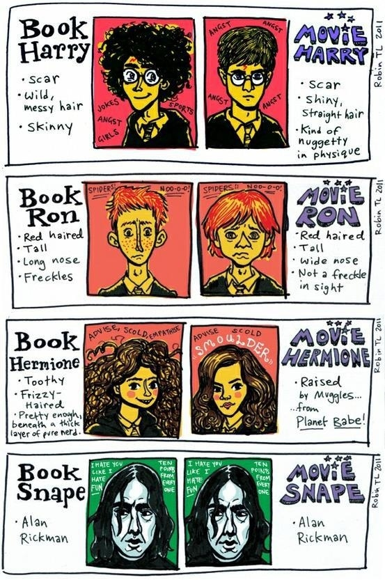 Harry Potter Comparison