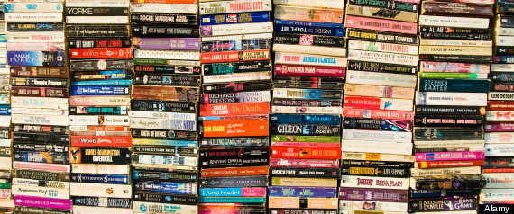 A selection of secondhand paperback books for sale