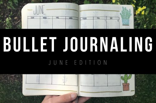JUNE BULLET JOURNAL SET UP