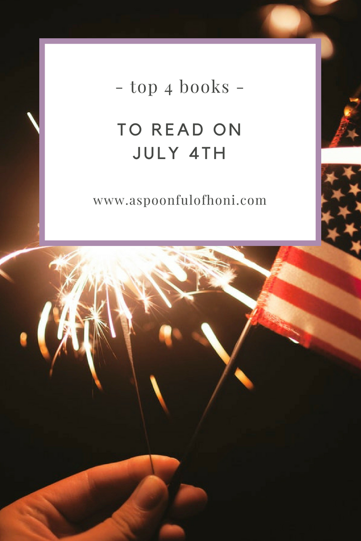 books to read on july 4th pinterest graphic
