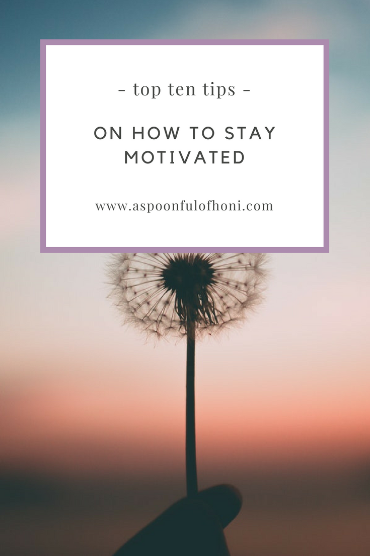 how to stay motivated pinterest graphic