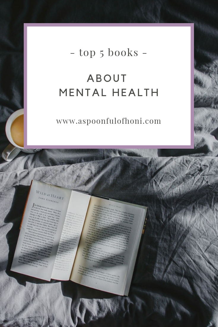 books about mental health pinterest graphic