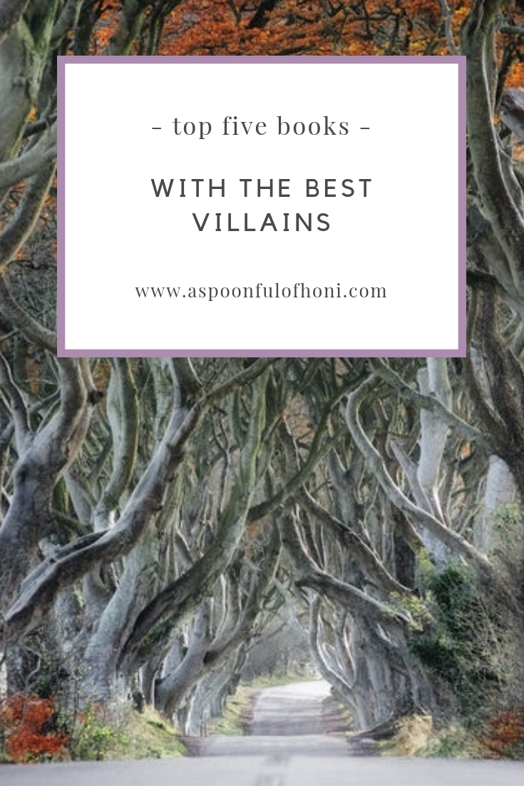 BEST VILLAINS IN NOVELS PINTEREST GRAPHIC