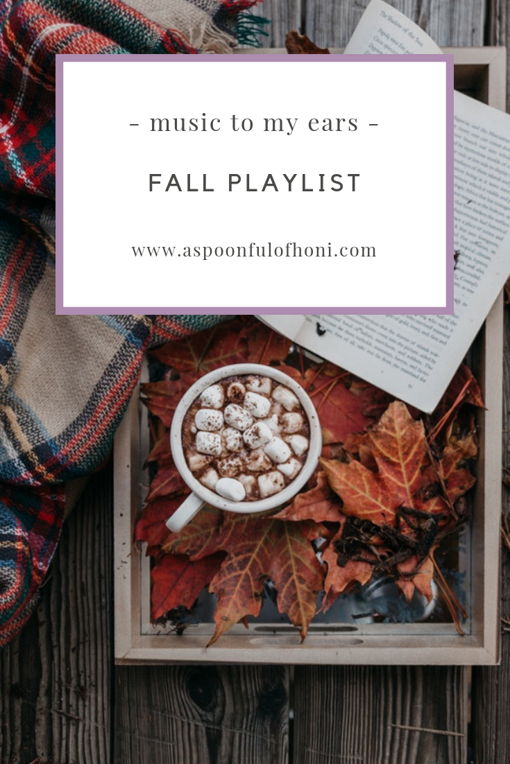 fall playlist pinterest graphic