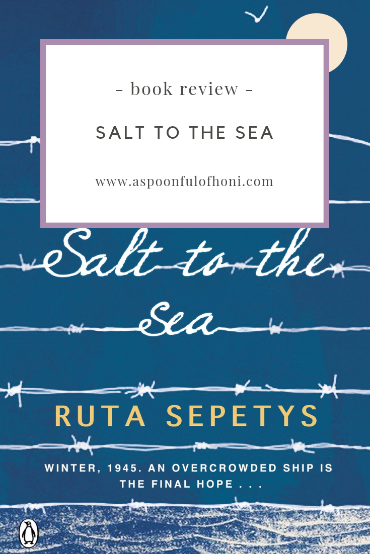 salt to the sea book review pinterest graphic