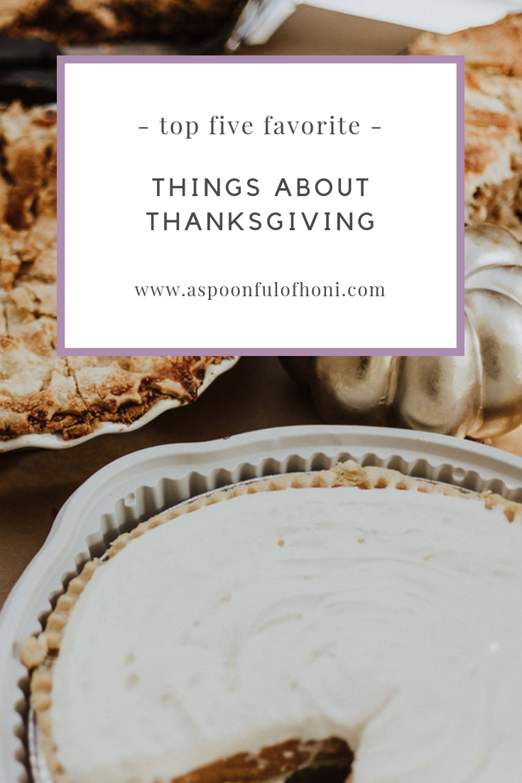Favorite Things About Thanksgiving Pinterest Image
