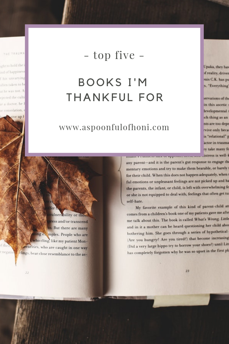 books i'm thankful for pinterest graphic