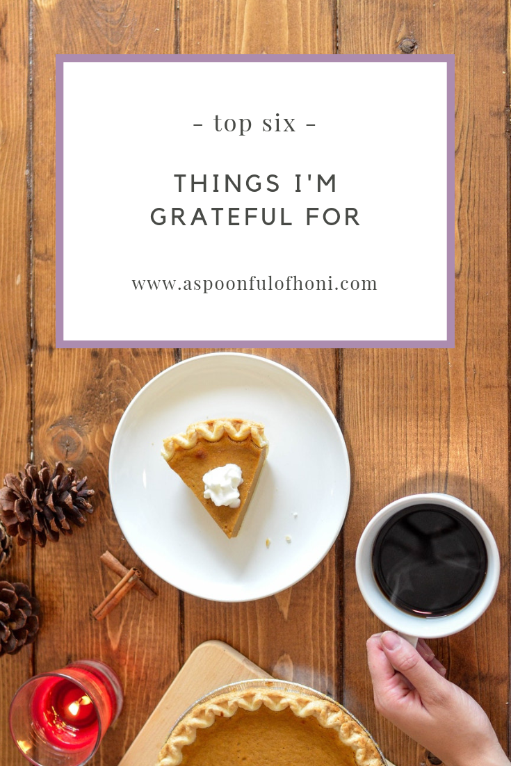 things i'm thankful for pinterest graphic