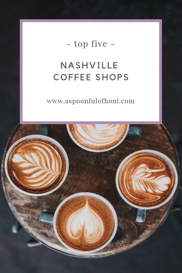 top 5 nashville coffee shops pinterest graphic