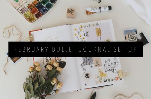 FEBRUARY BULLET JOURNAL SET-UP FEATURED IMAGE