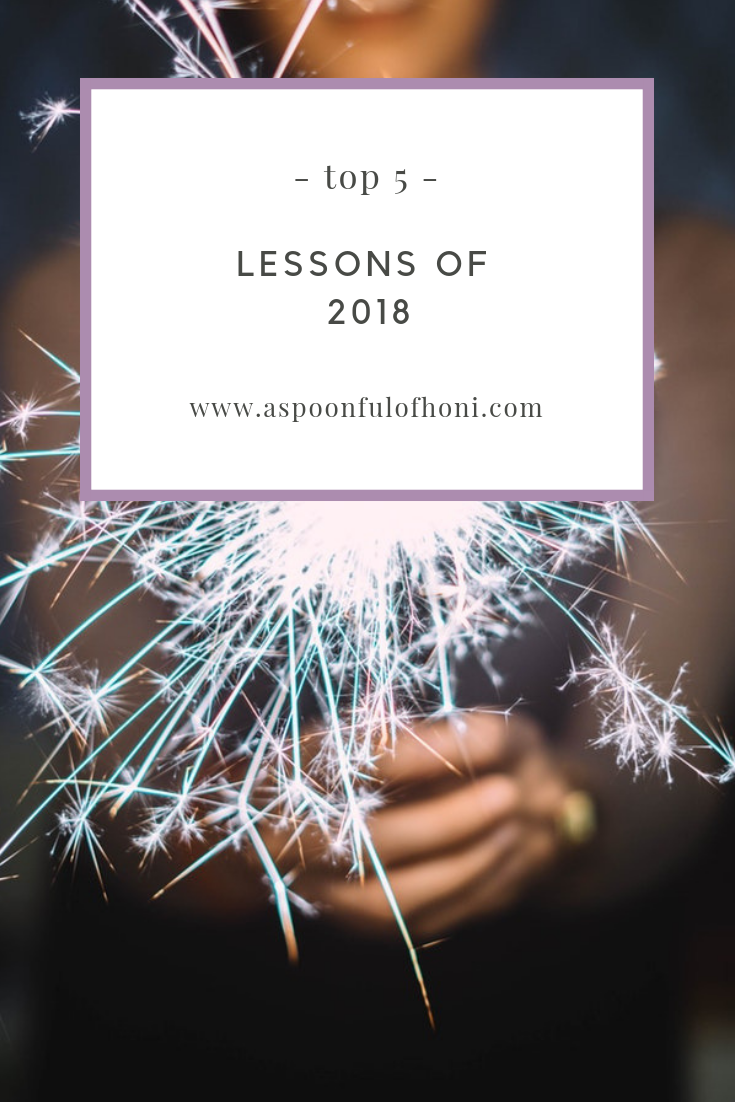 top 5 lessons learned in 2018 pinterest graphic