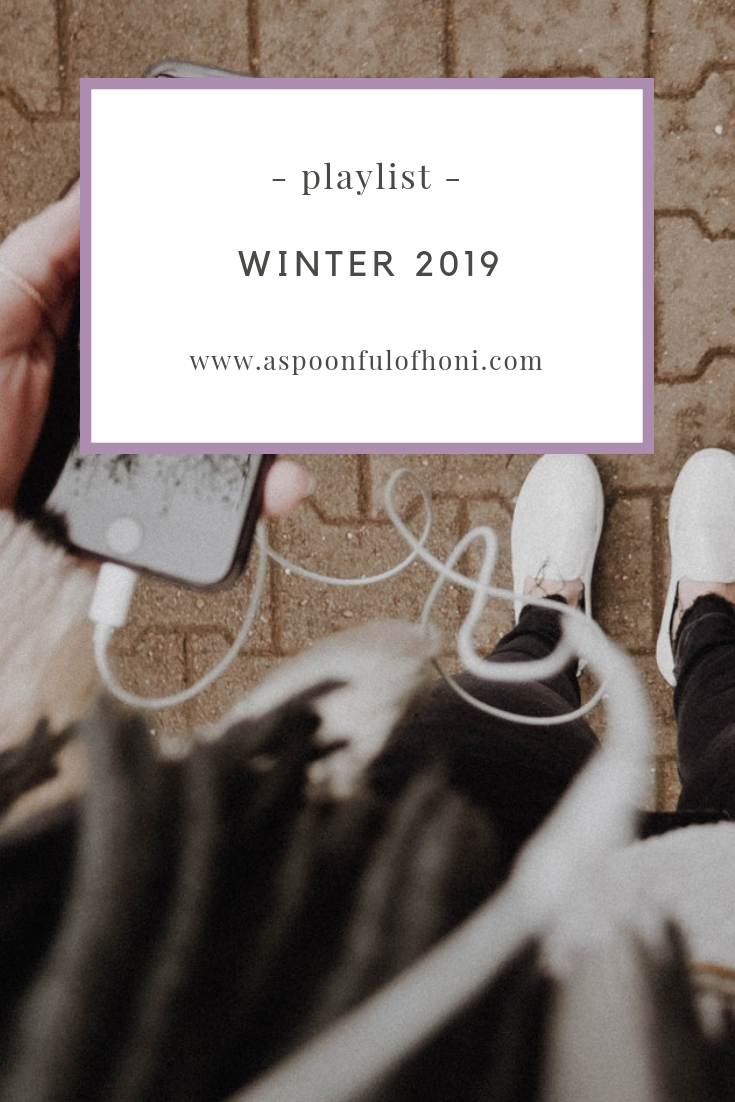 winter 2019 playlist pinterest graphic