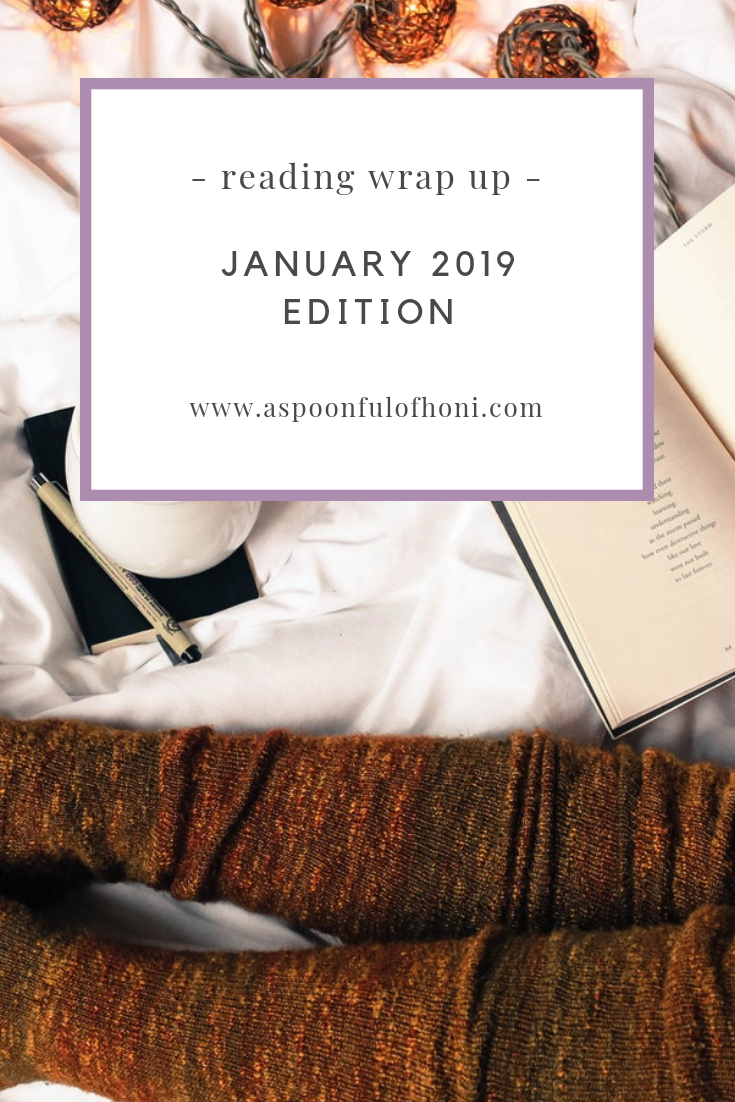 January Reading Wrap Up 2019 Pinteret Graphic
