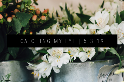 CATCHING MY EYE 5.3.19 FEATURED IMAGE