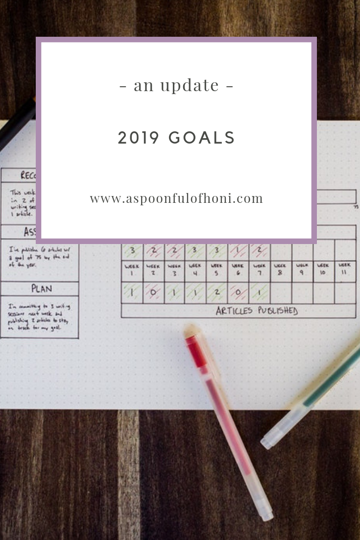 2019 goals an update pinterest graphic