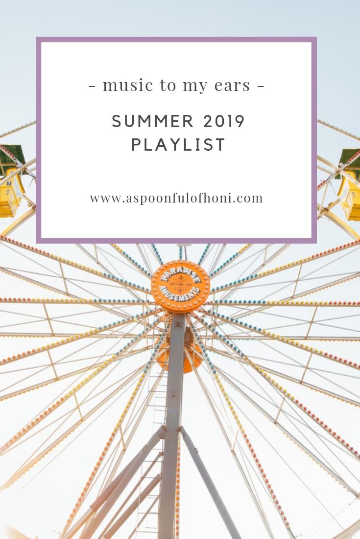 summer 2019 playlist pinterest graphic