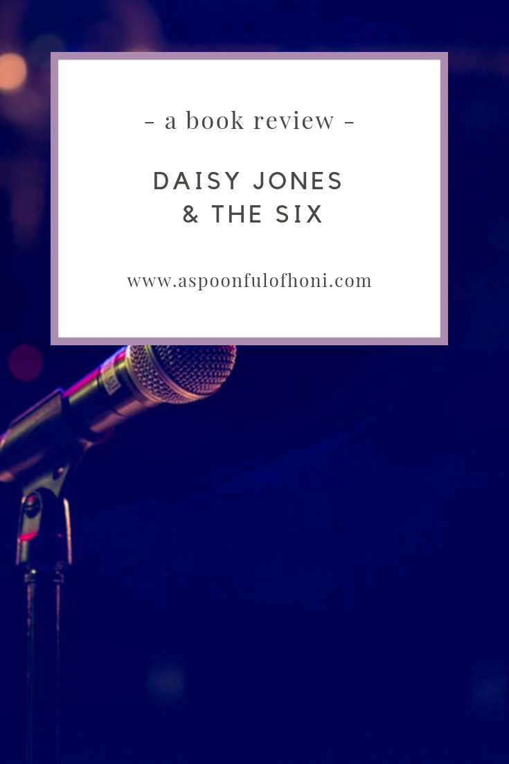 Daisy Jones and the Six Book Review Pinterest Graphic