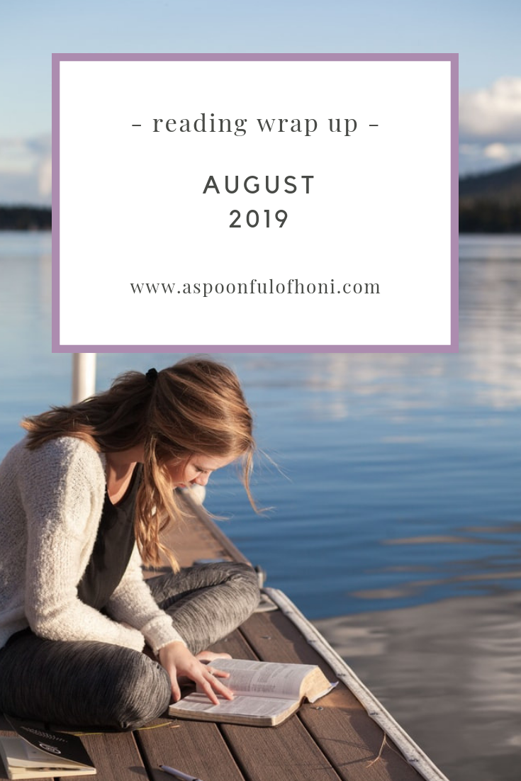 august reading wrap up pinterest graphic