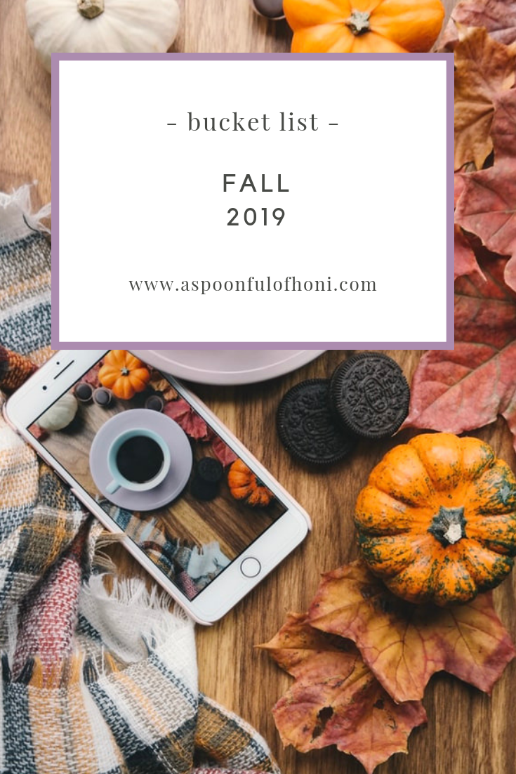 fall bucket list pinterest graphic