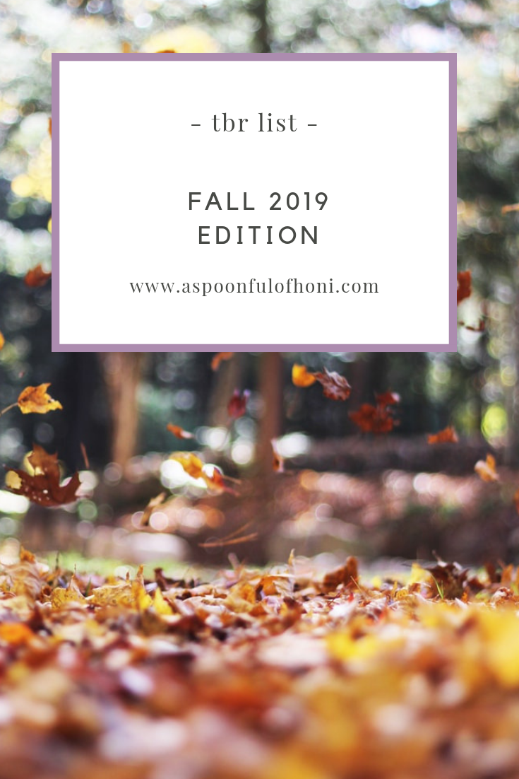 fall tbr list 2019 pinterest graphic