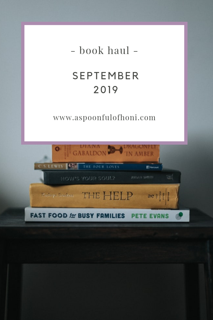 september book haul pinterest graphic