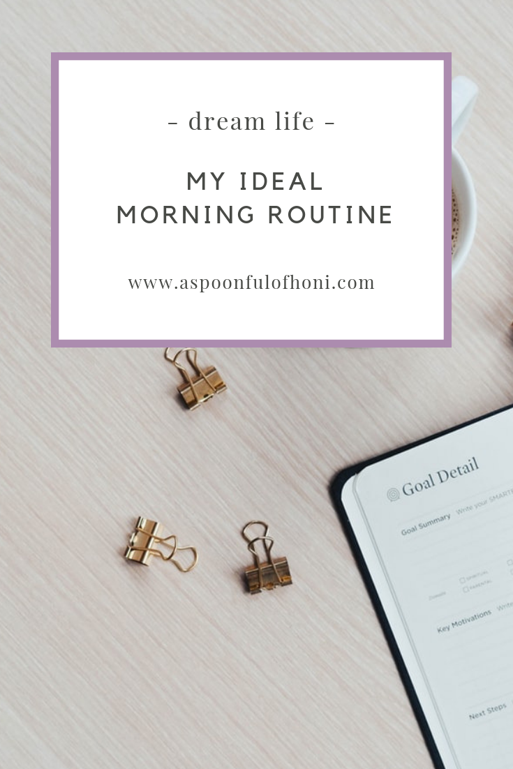 ideal morning routine pinterest graphic