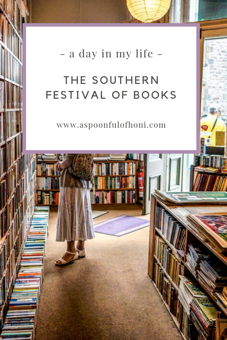 southern festival of books pinterest graphic