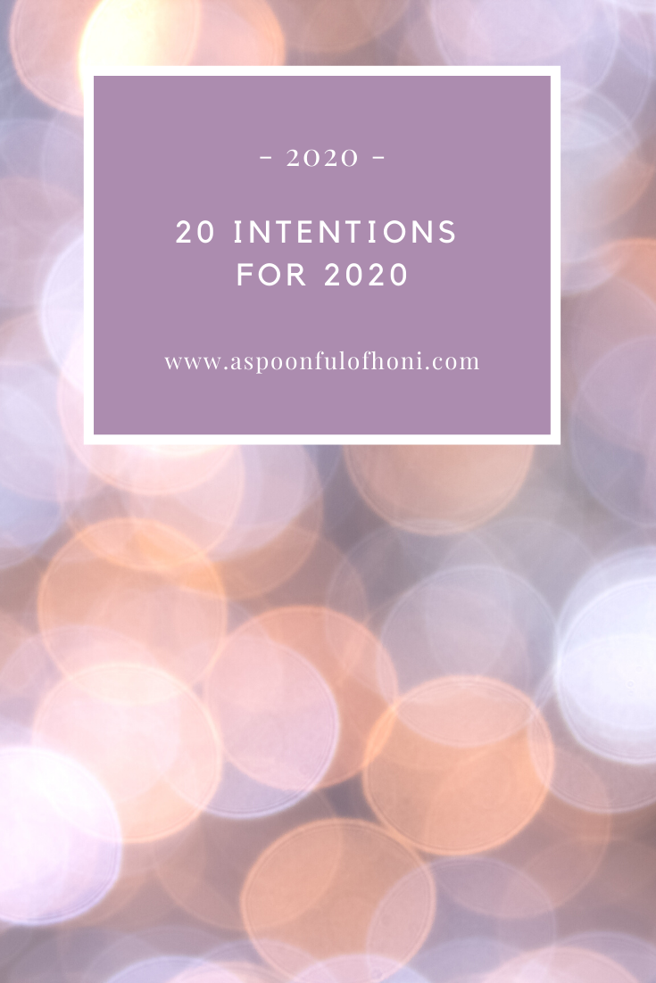 20 intentions for 2020 pinterest graphic