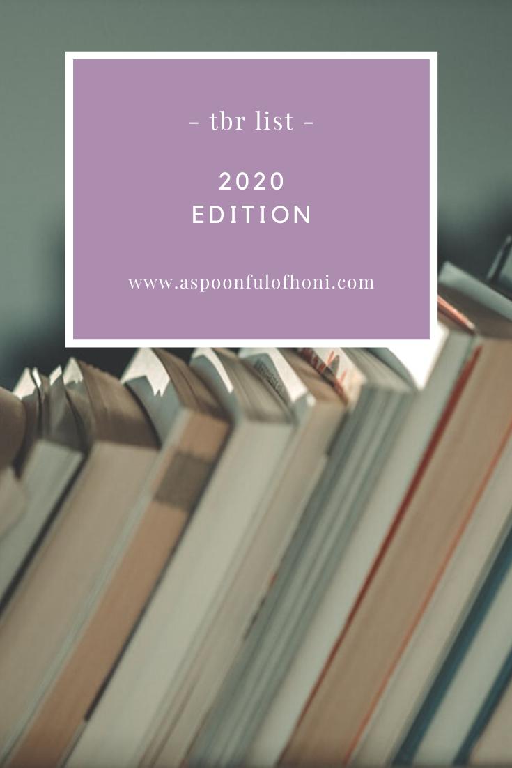 2020 tbr list pinterest graphic