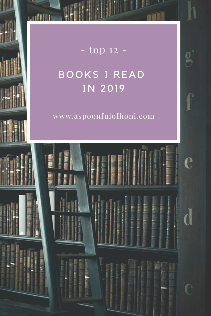 top 12 books i read in 2019 pinterest graphic